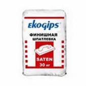 Екогіпс Шпаклівка SatenGips, мішок 25 кг.