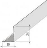Угол пристенный 19х19мм  3м  белый Alubest