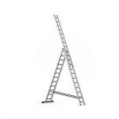 Трехсекционная алюминиевая лестница ALUMET серии Н3 3x6 ступеней