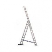 Трехсекционная алюминиевая лестница ALUMET серии Н3 3x12 ступене