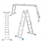Четырехсекционная шарнирная лестница ALUMET серия TL 4х3 ступени